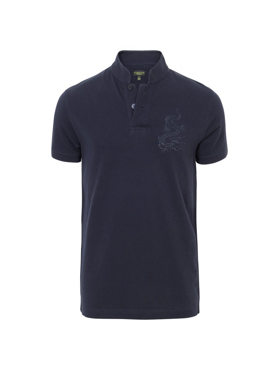 Dragon Embrodiery Fine Pique Polo Shirt