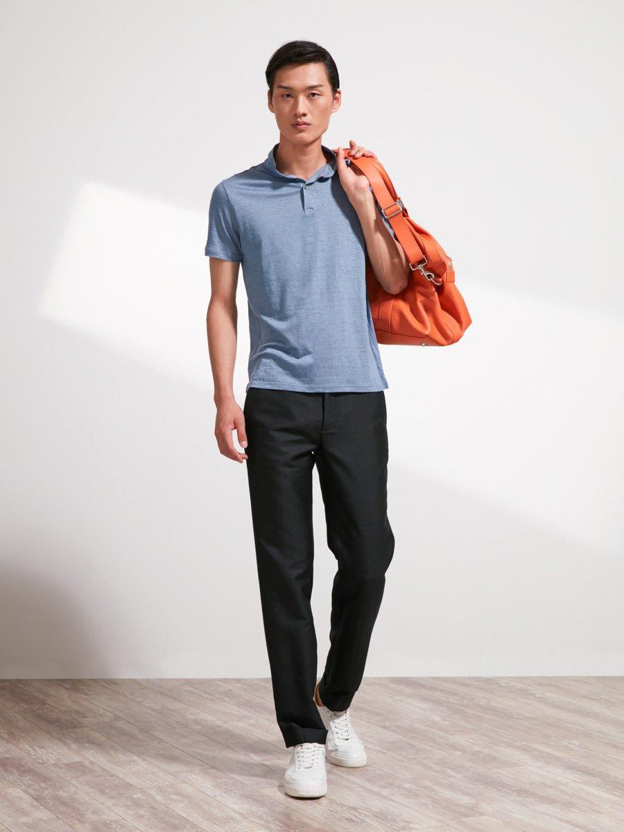 Linen Jersey Polo Shirt