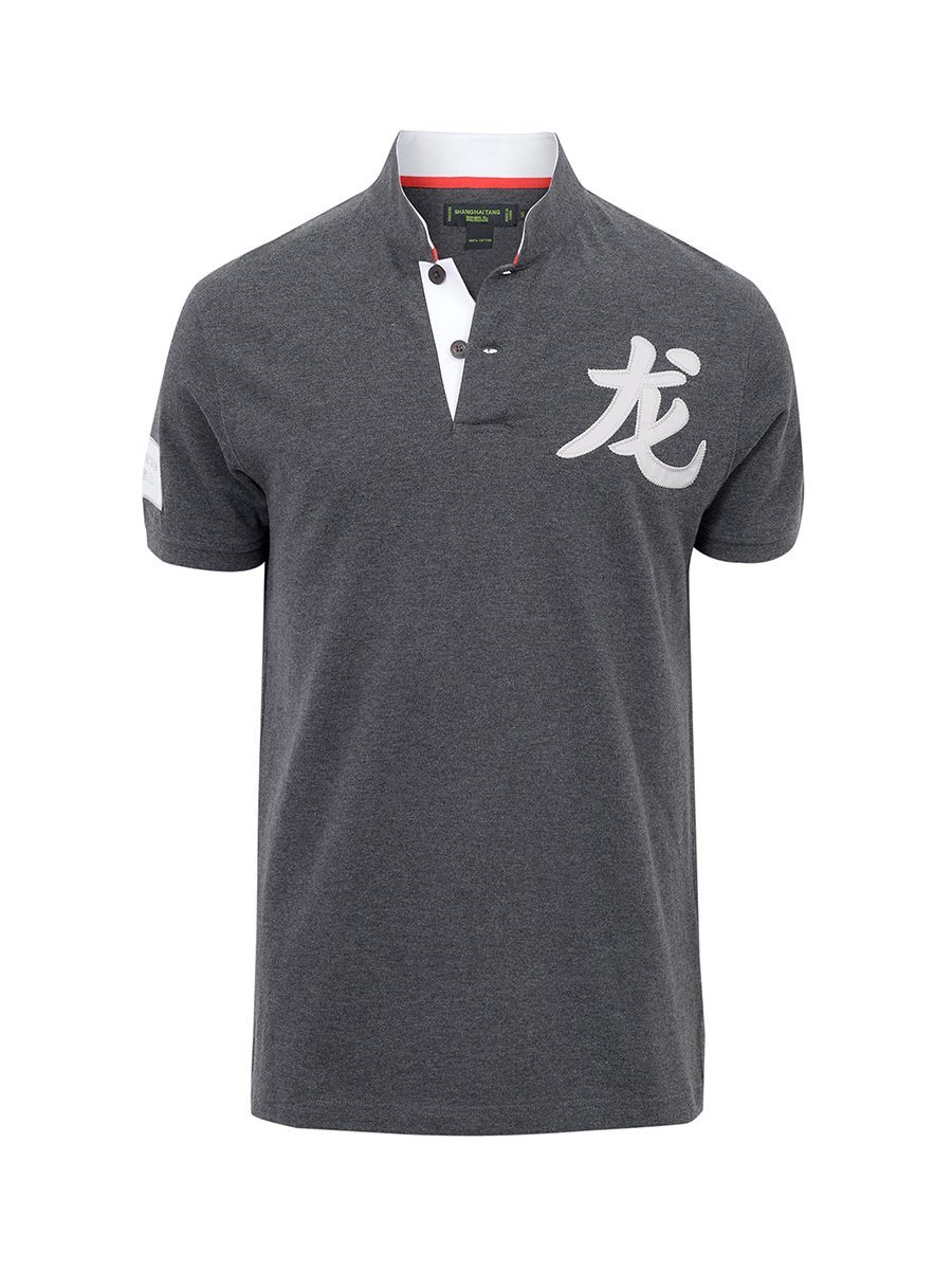 5 Claws Dragon Cotton Pique Polo Shirt