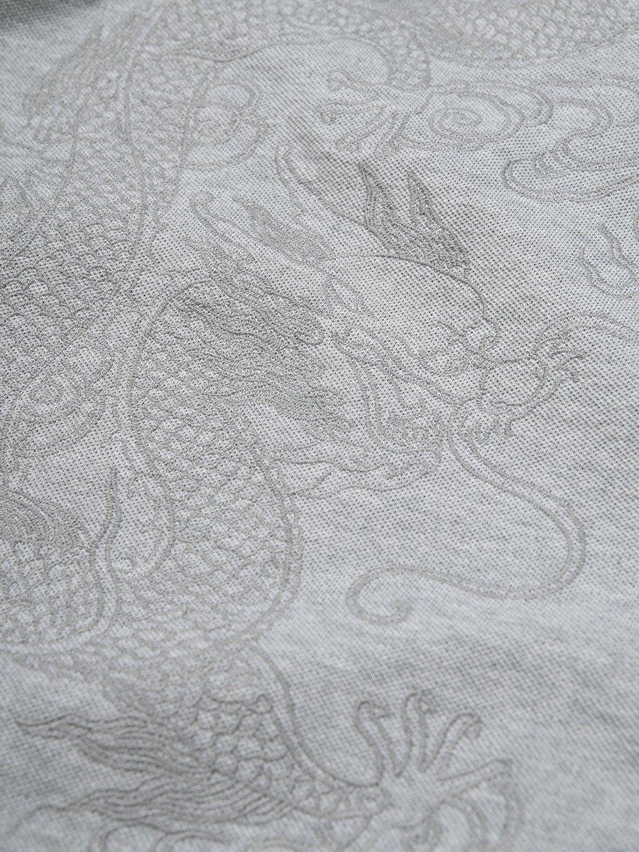 Cotton 5 Claws Dragon Pique Polo Shirt