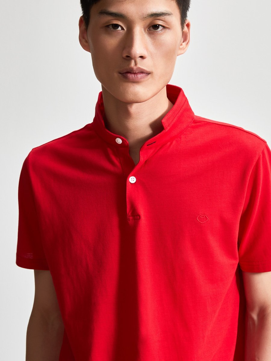 Cotton Fine Piqué Lock Polo Shirt