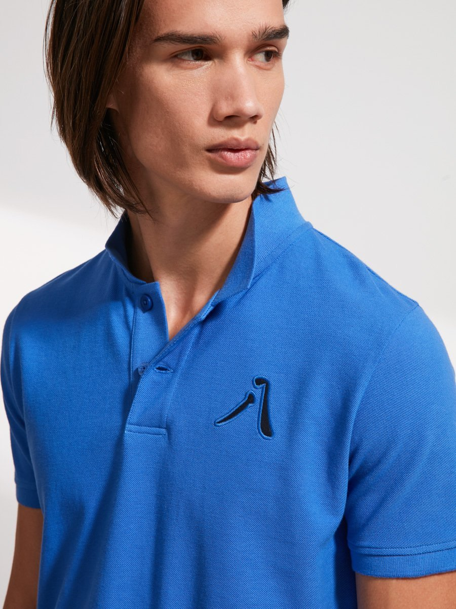 '8' Embroidery Cotton Piqué Polo Shirt