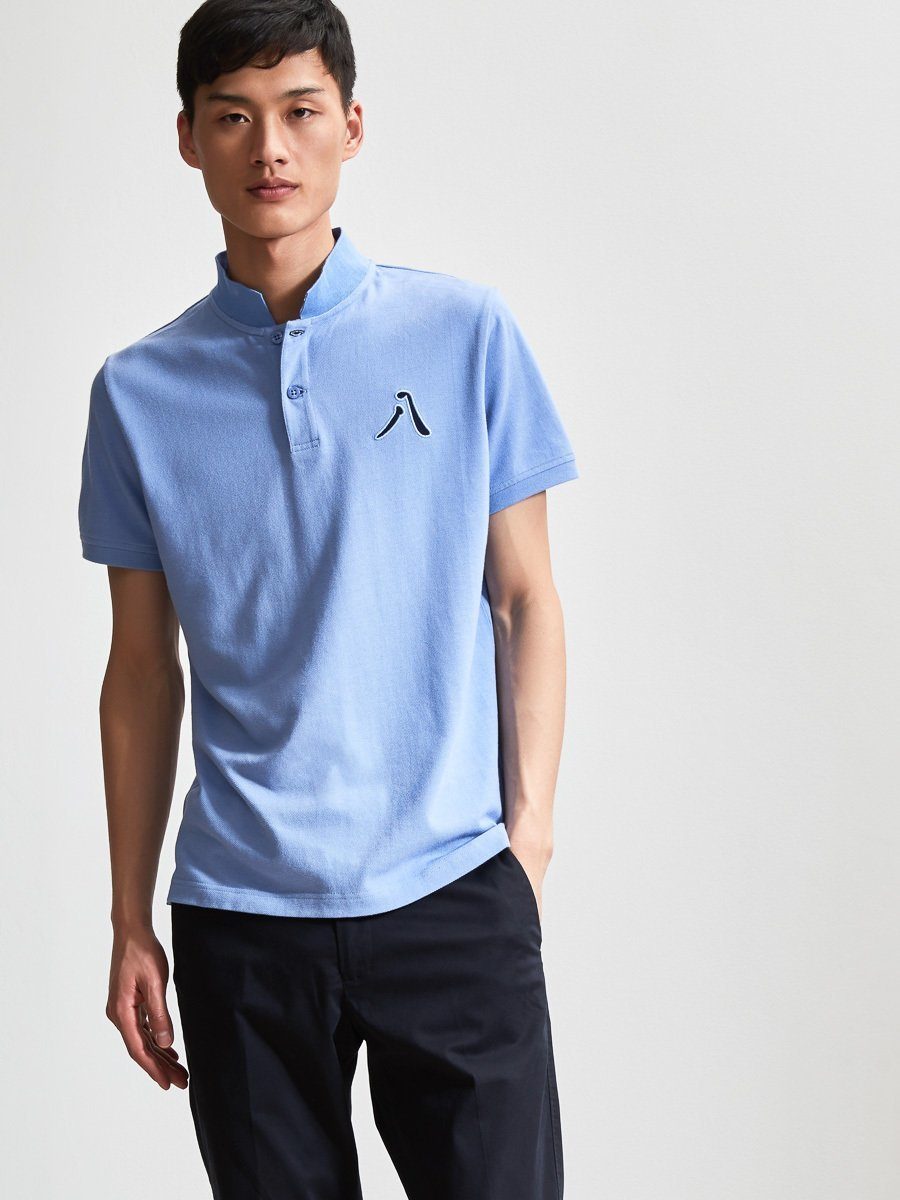 Cotton 8 Embroidery Piqué Polo Shirt