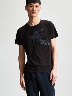 Cotton Crane Patch T-Shirt