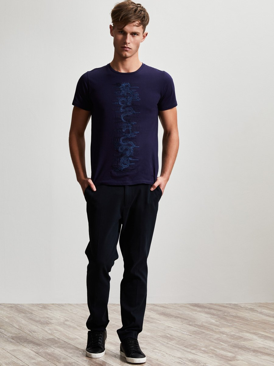 Cotton Dragon Embroidery T-Shirt