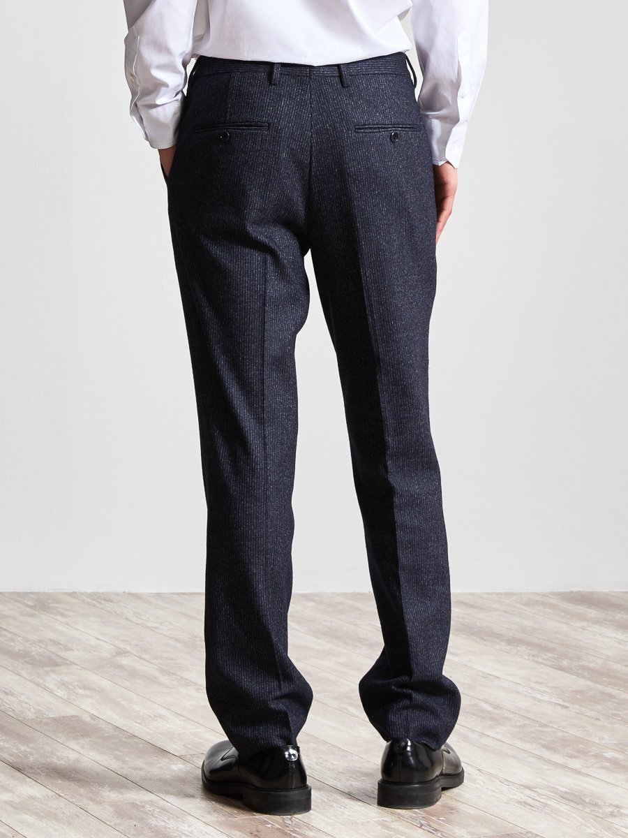 Cotton Blend Knit Suit Pants