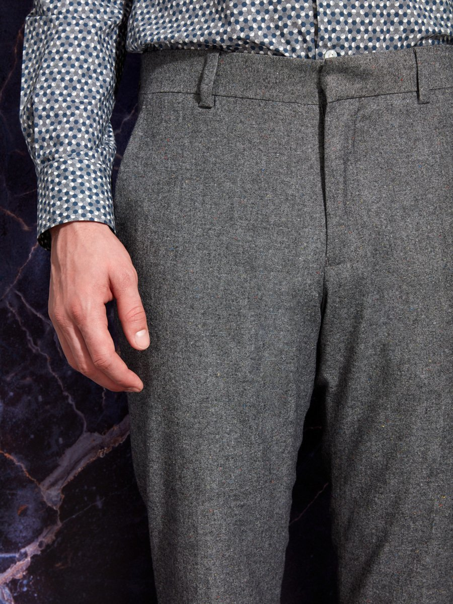 Donegal Wool Blend Stretch Pants