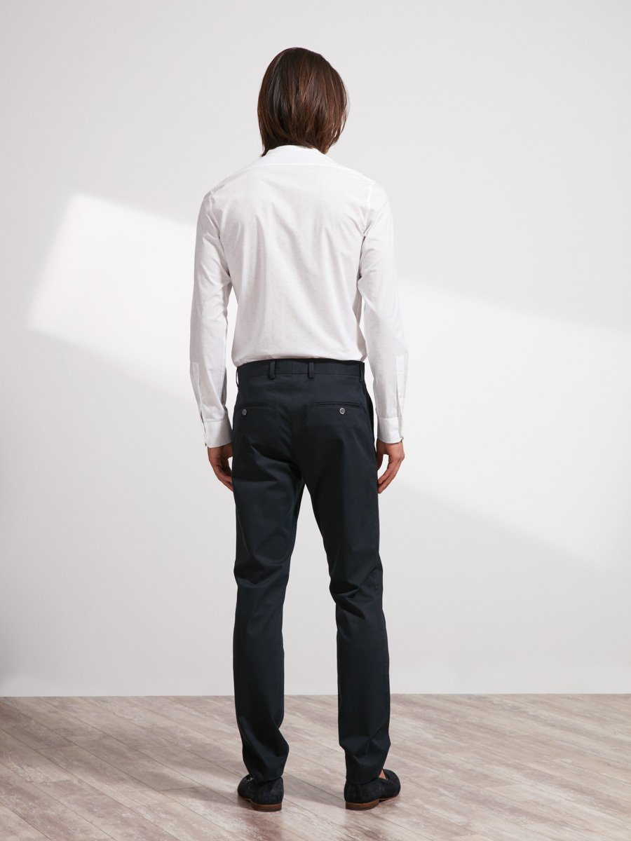 Cotton-Polyester Suit Pants