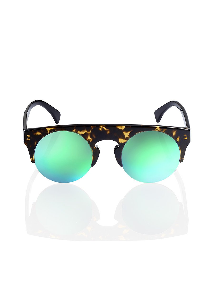 Dark Tortoiseshell Mirror Sunglasses