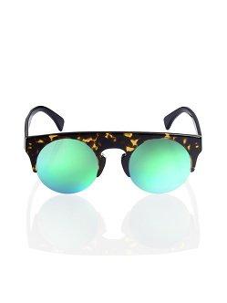 Dark Tortoiseshell Mirror Sunglasses