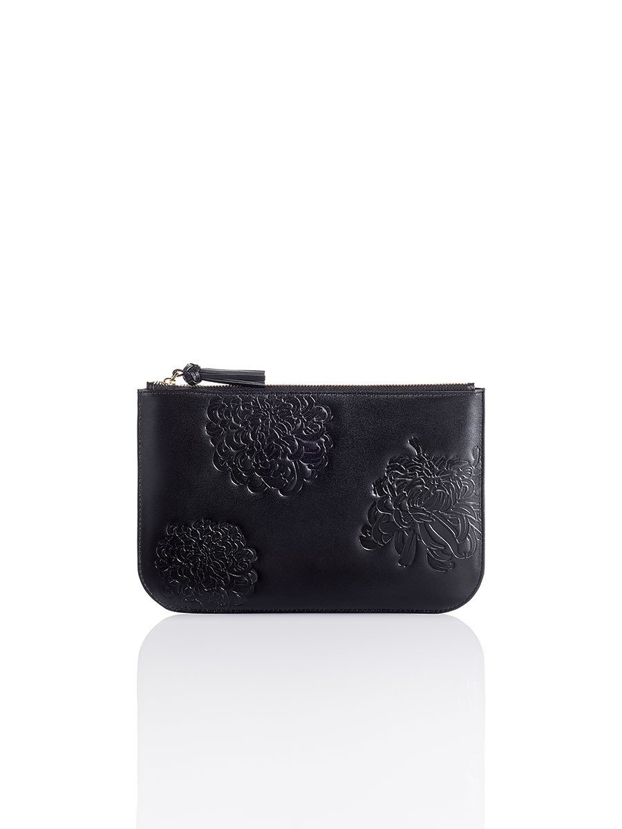 Chrysanthemum Leather Pouch