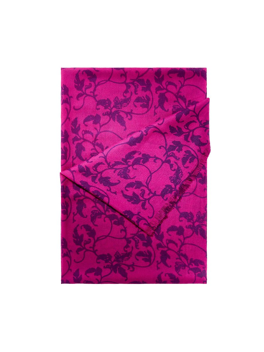 Cashmere Printed Leaves Shawl