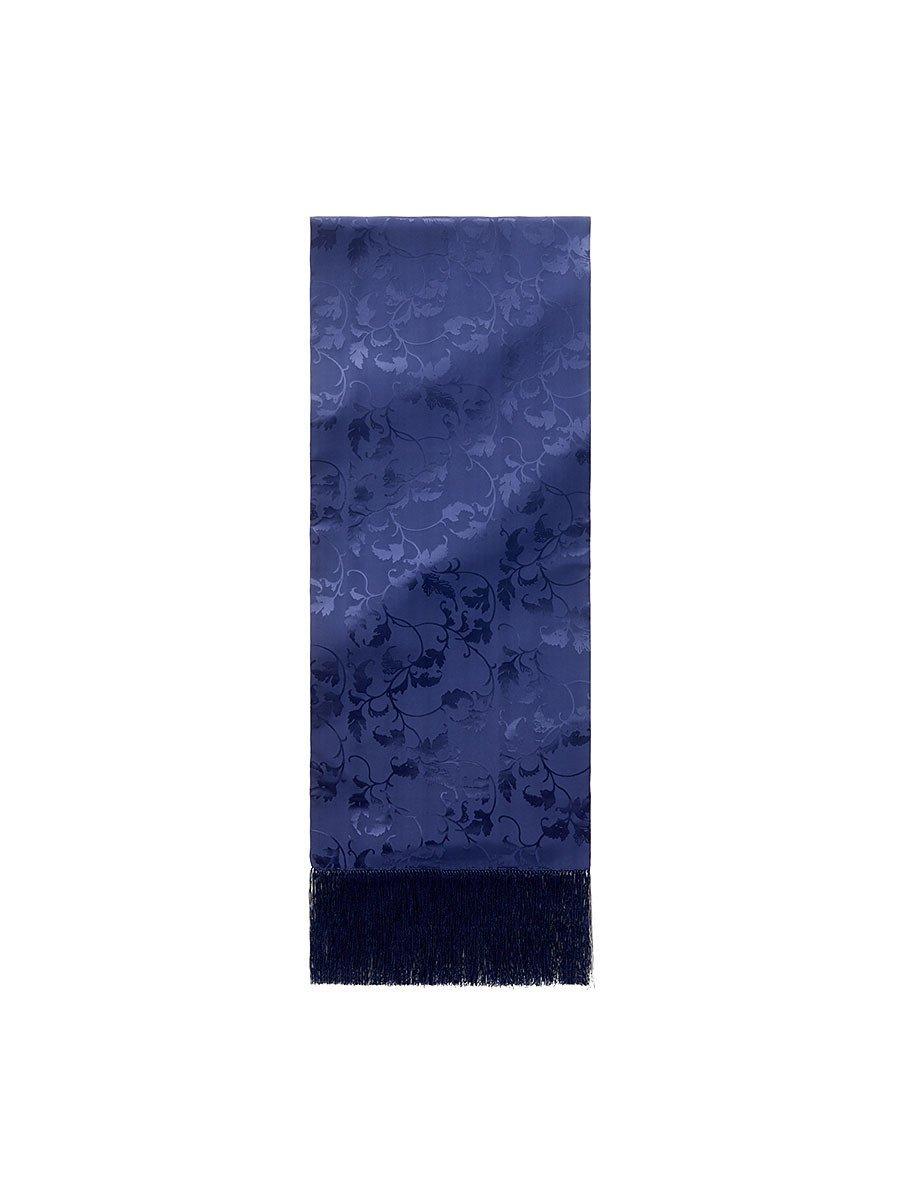 Silk Leaves Scarf with Tassel