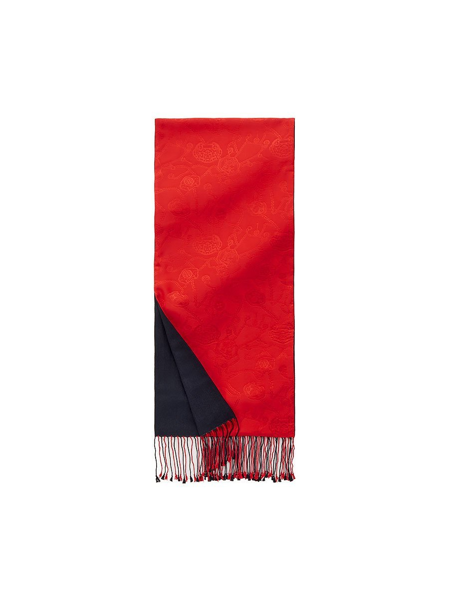 Lucky Charms Silk Pashmina Scarf with Tassel