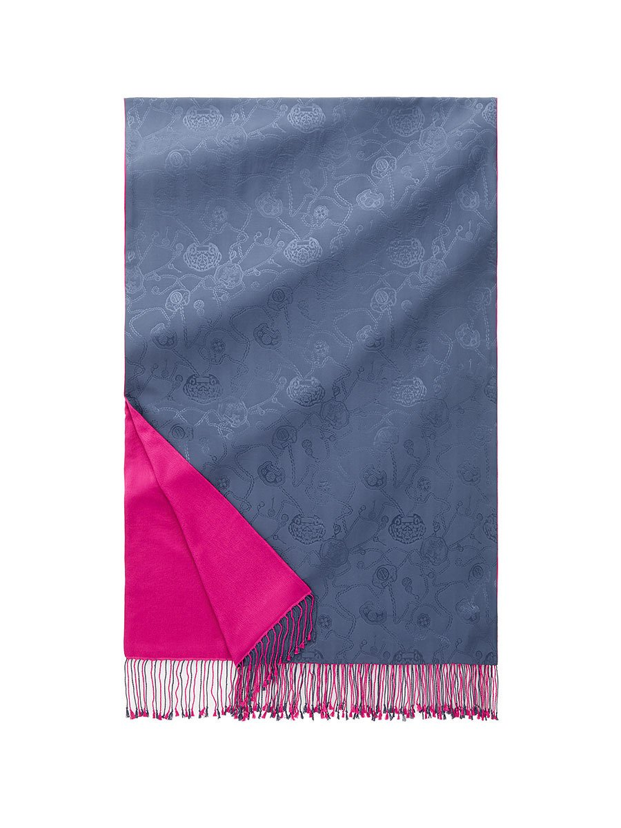 Lucky Charms Silk Pashmina Shawl with Tassel