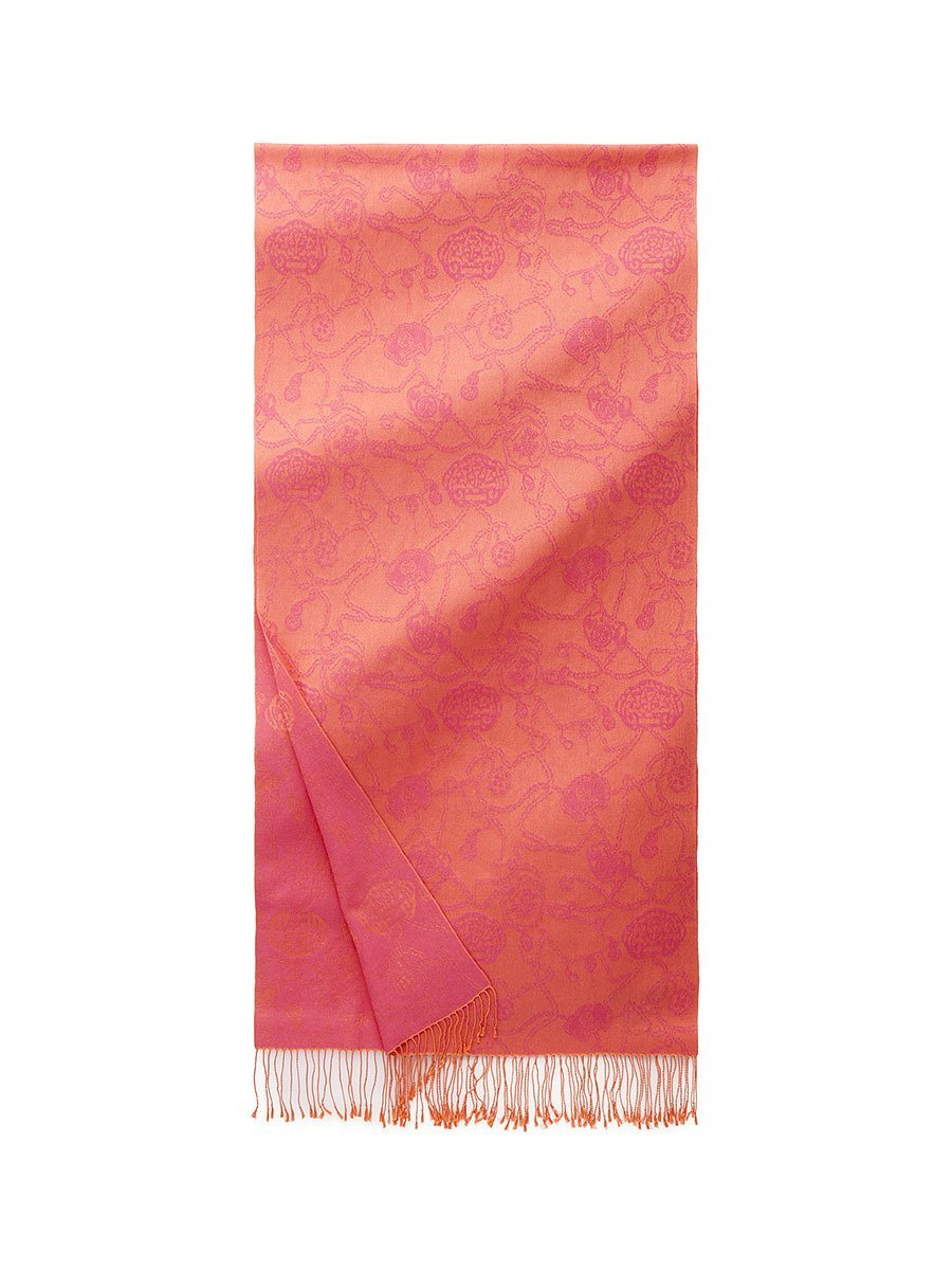Two Tone Lucky Charms Pashmina Shawl with Tassel