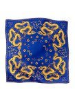 Dragon Silk Satin Chiffon Printed Square Scarf