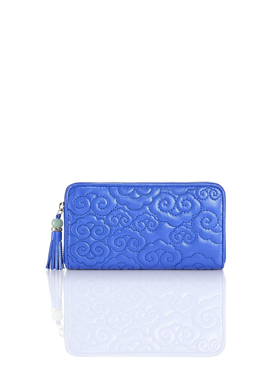 Cloud Quilted Leather Zip Around Wallet