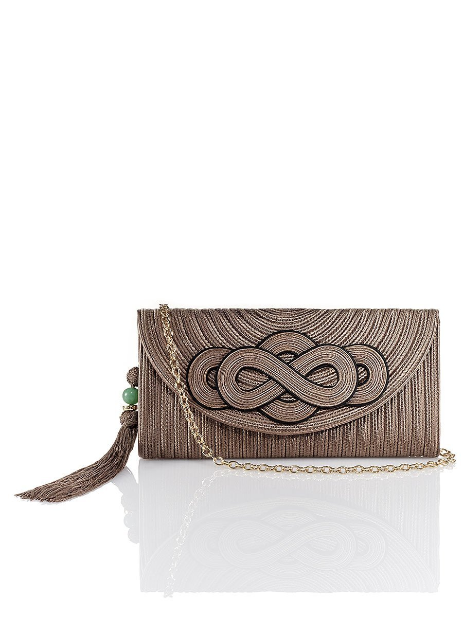 Knot Silk Braid Clutch