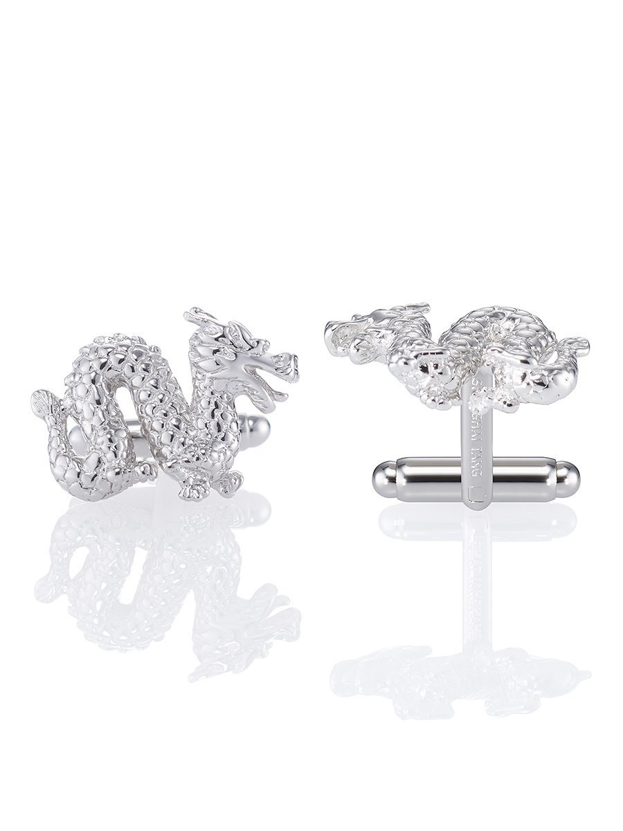 Dragon Silver Cufflinks