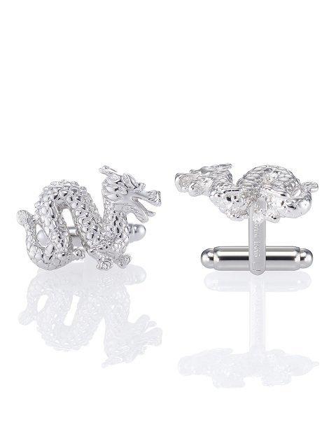 Dragon Silver Cufflinks