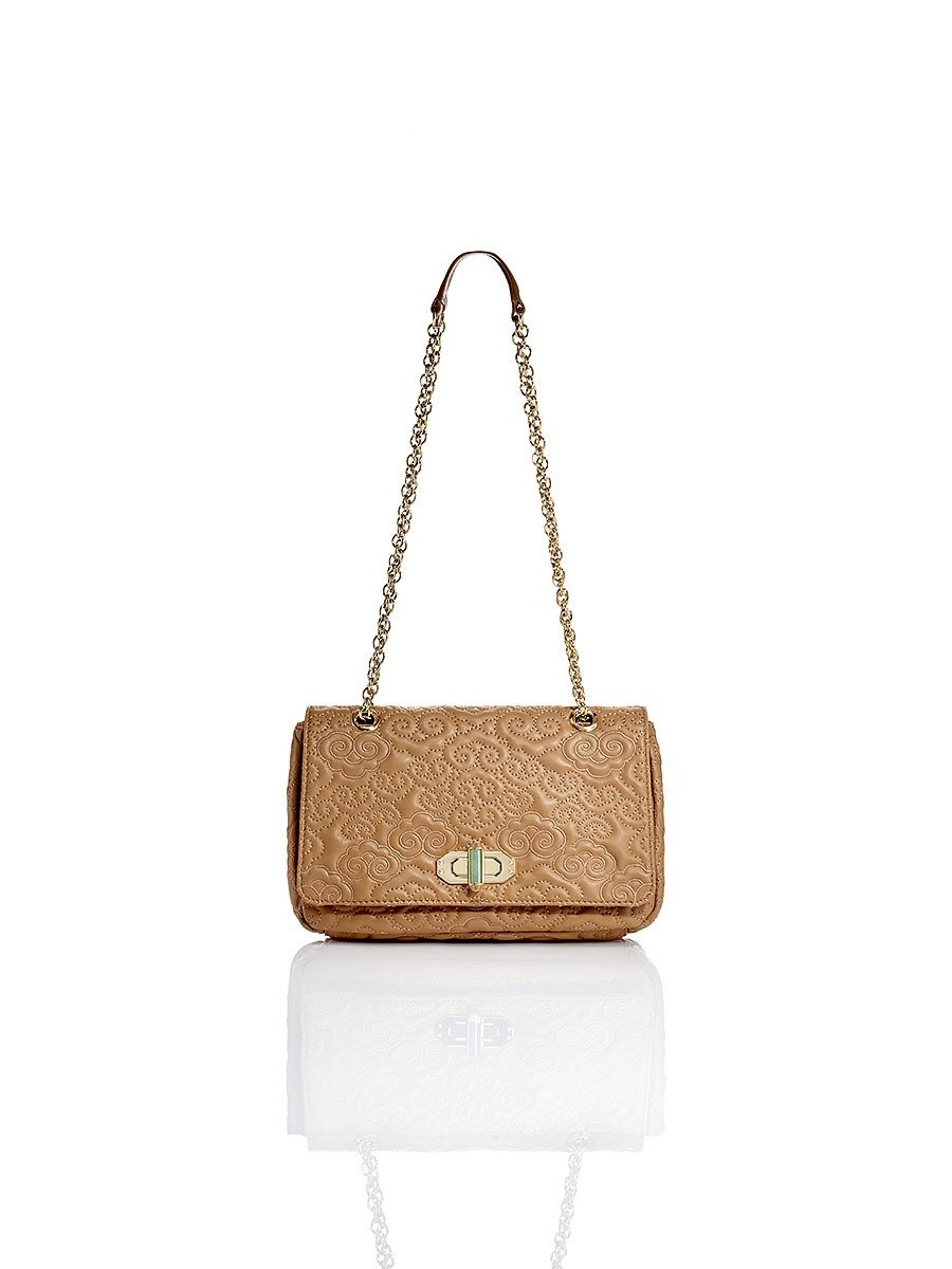 Cloud Quilted Leather Small Flap Handbag