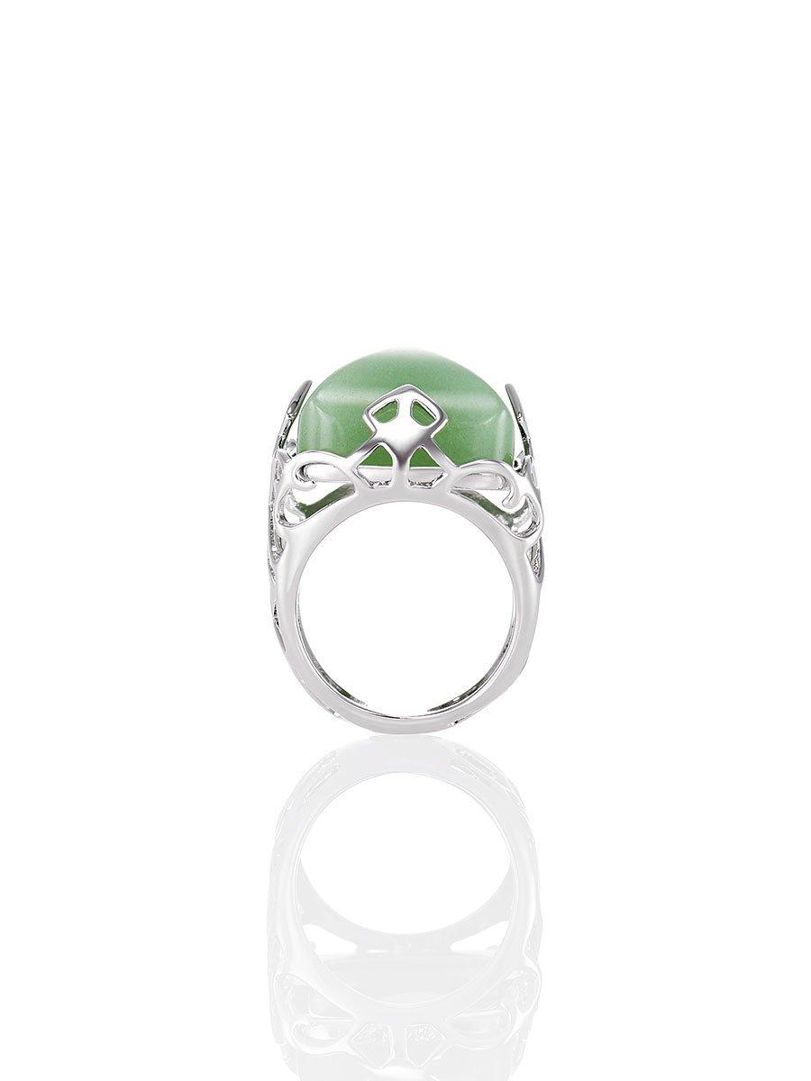 Jade Inspired Lattice Ring