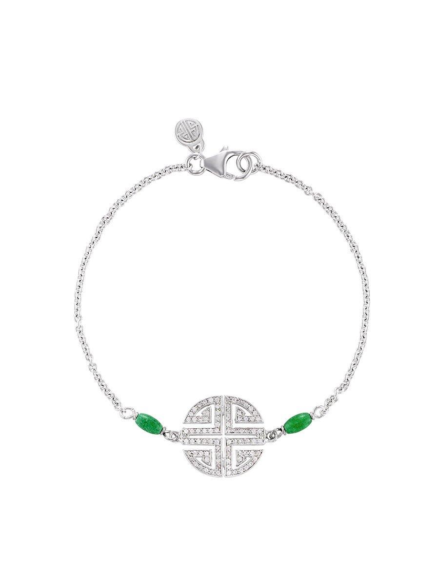Fortune Shou Gemstone Bracelet
