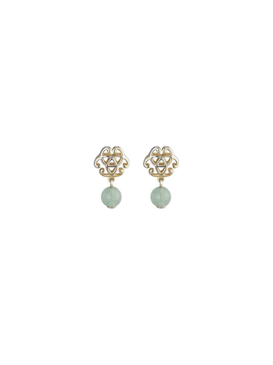 Knot and Jade Inspired Earrings