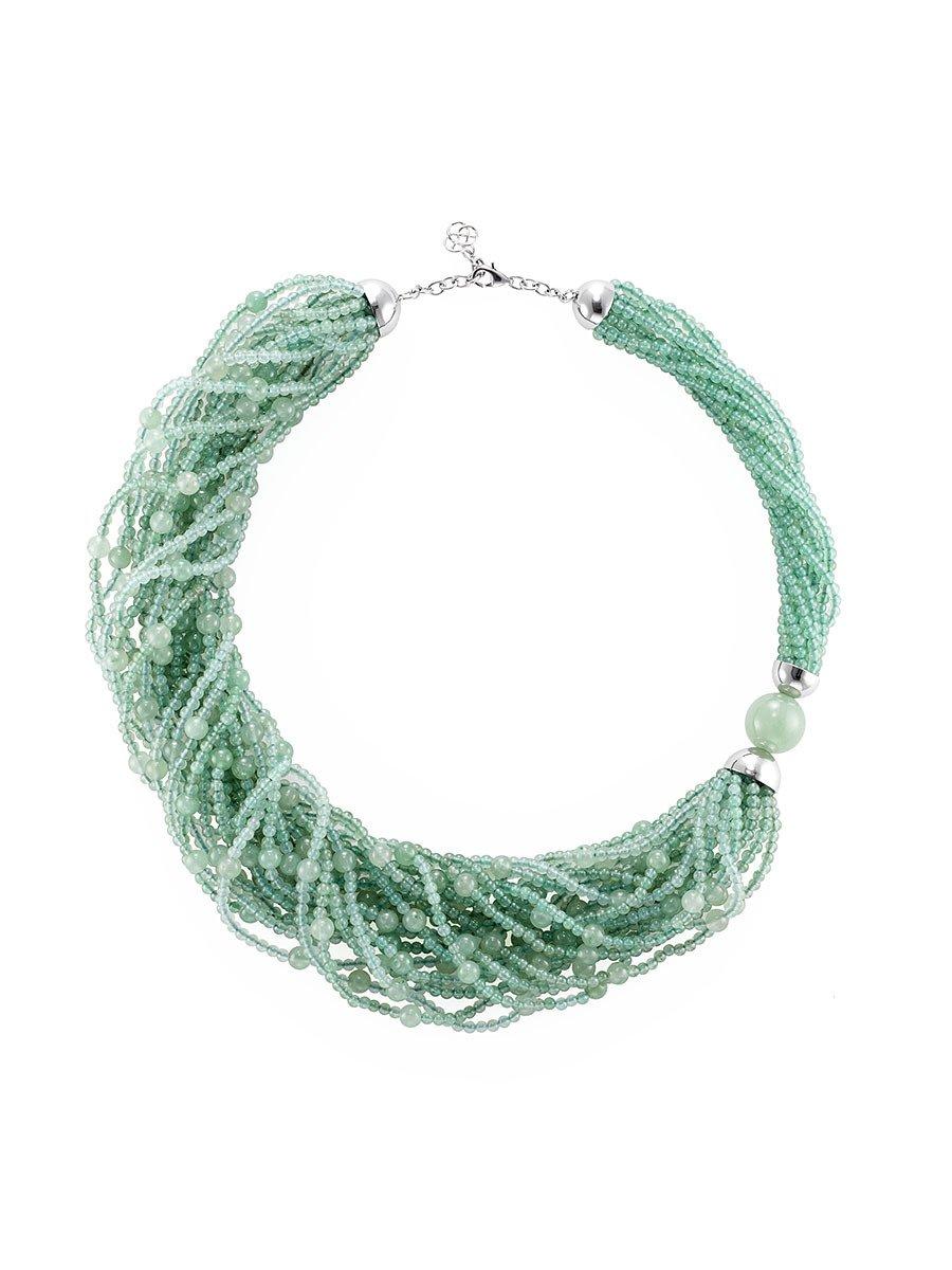Pom Pom Jade Inspired Necklace