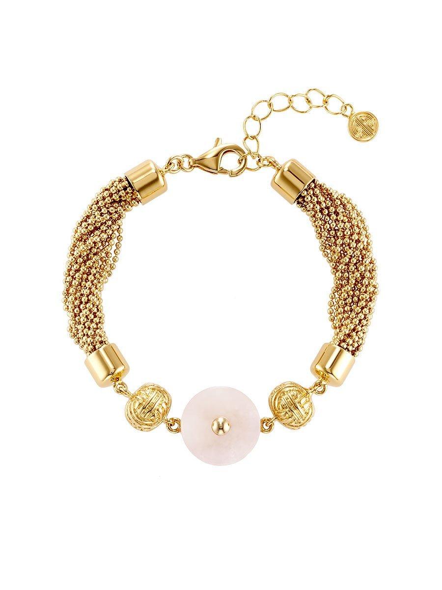 Jade Inspired Tassel Bracelet