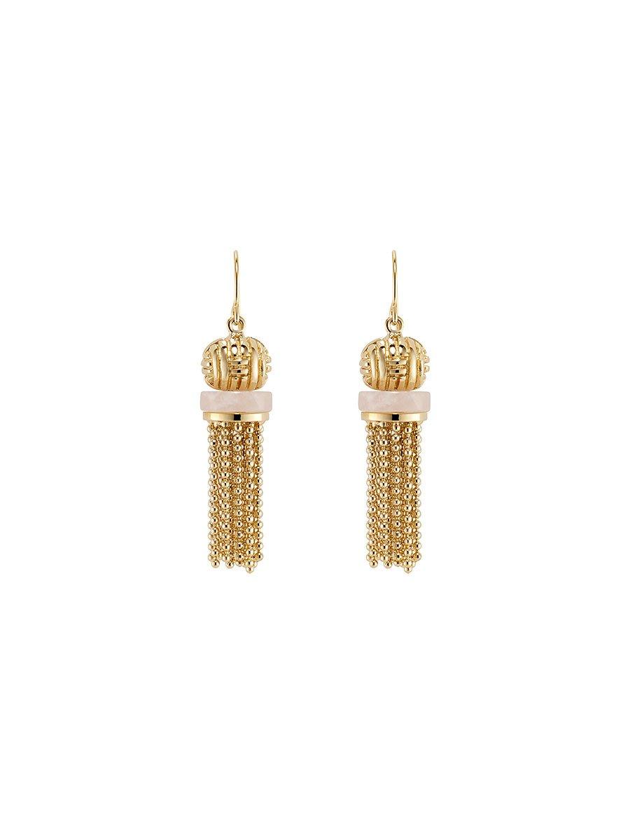 Jade Inspired Tassel Short Earrings