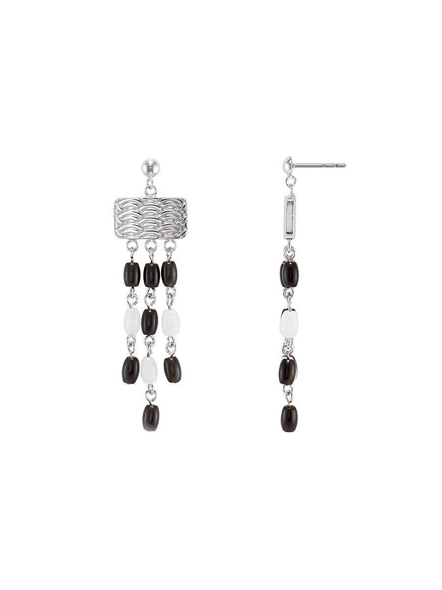 Pom Pom Long Earrings