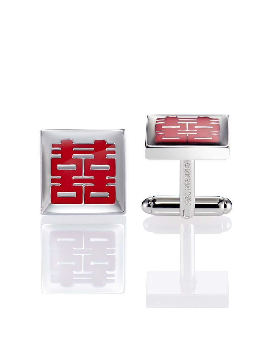 Double Happiness Square Cufflinks