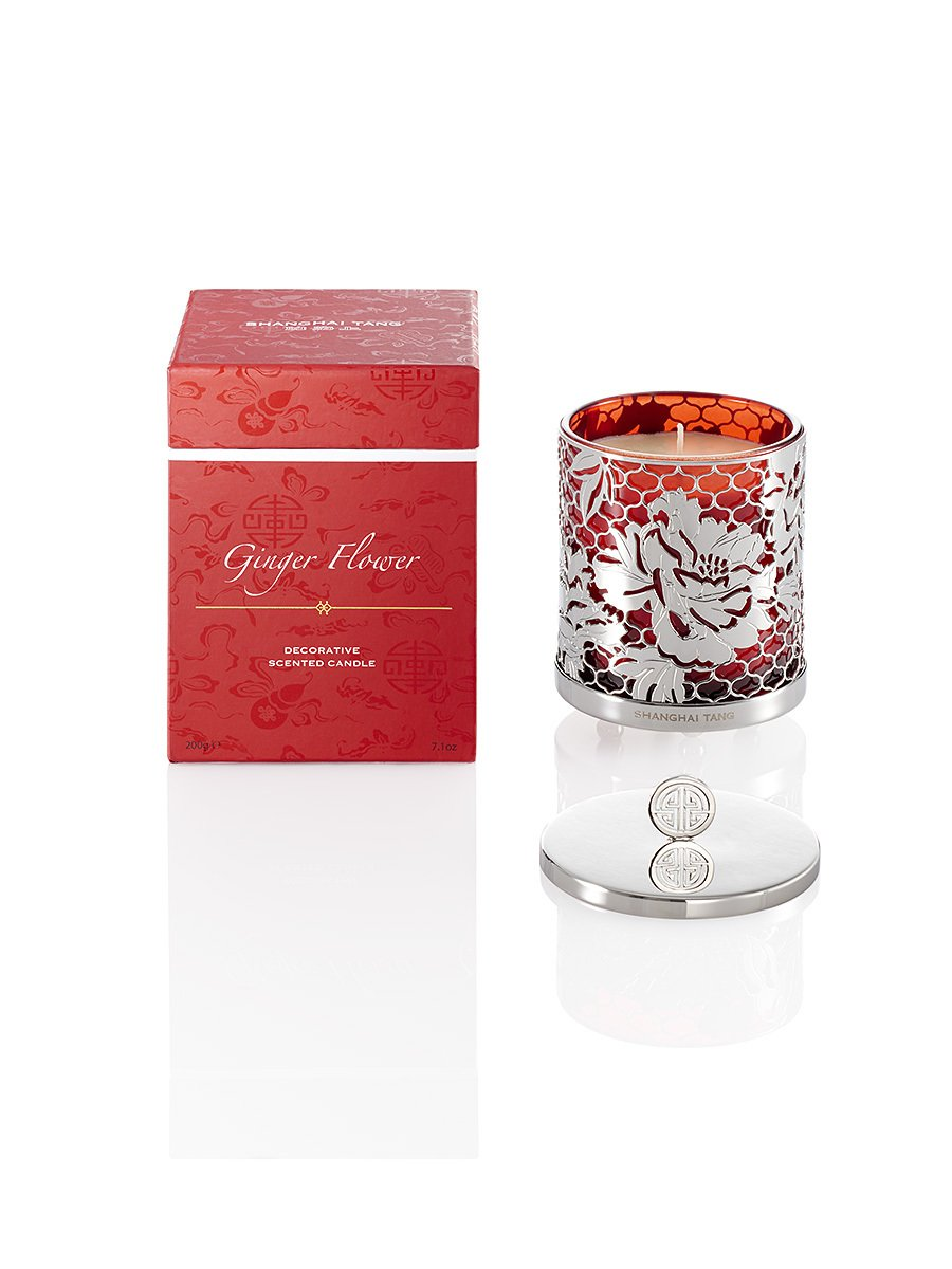 Ginger Flower Candle with Lid