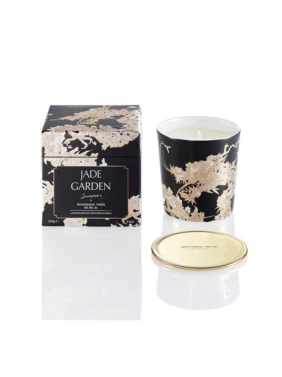 Carved Dragon Jade Garden Scented Candle with Lid