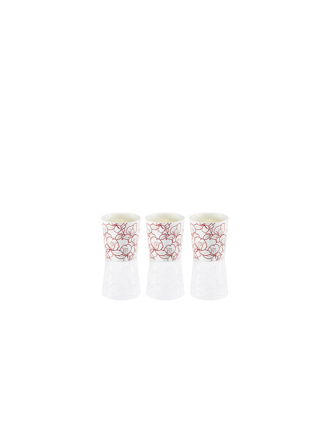 Ginger Flower Bone China Scented Mini Candle Set