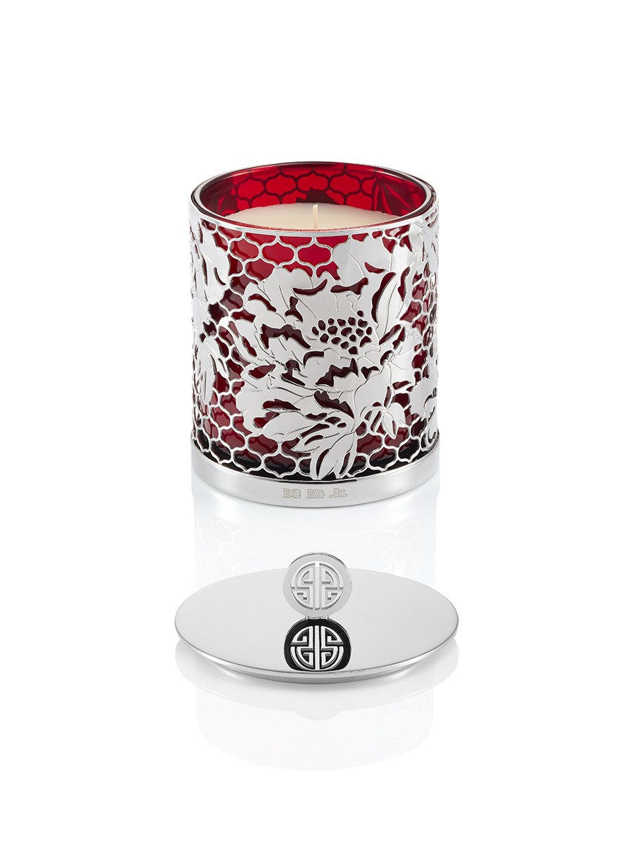 Peony Ginger Flower Scented Deco Candle W Lid