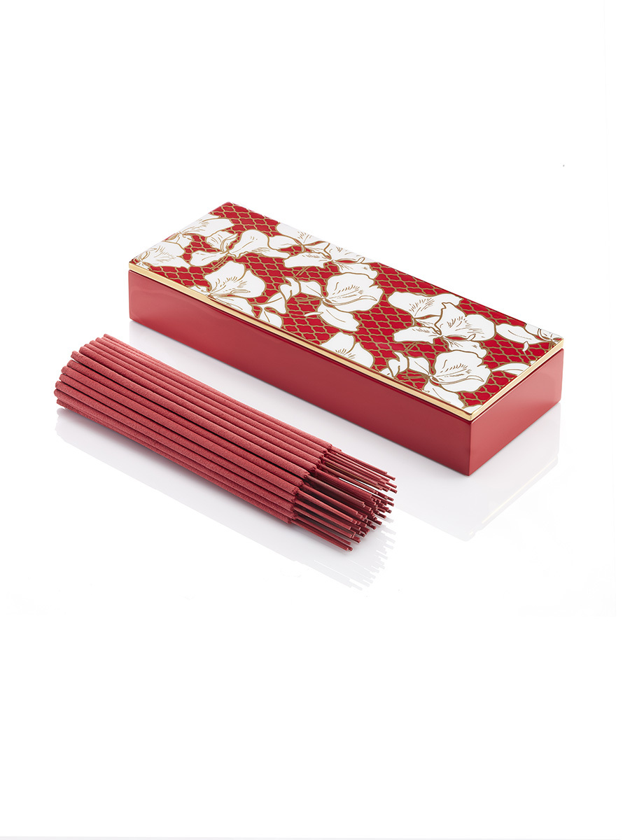 Ginger Flower Incense Burner with Incense Stick