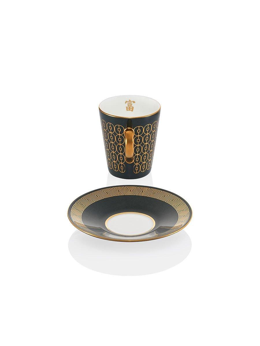 Coin Lattice Espresso Cup and Saucer