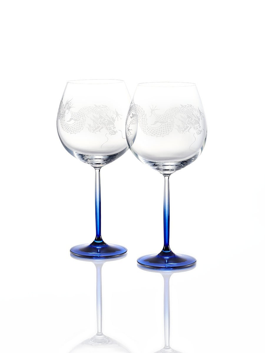Colour Dragon Burgundy Glasses (Set of 2)