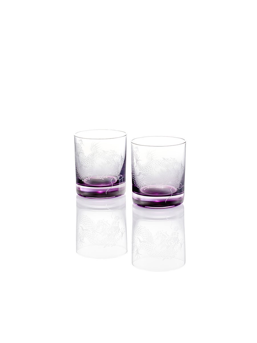 Colour Dragon Whiskey Glasses (Set of 2)