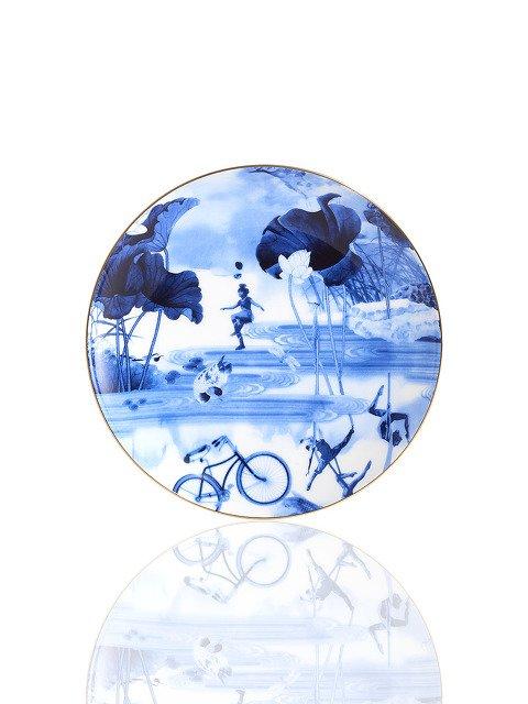 Blue Lotus Dessert Plate