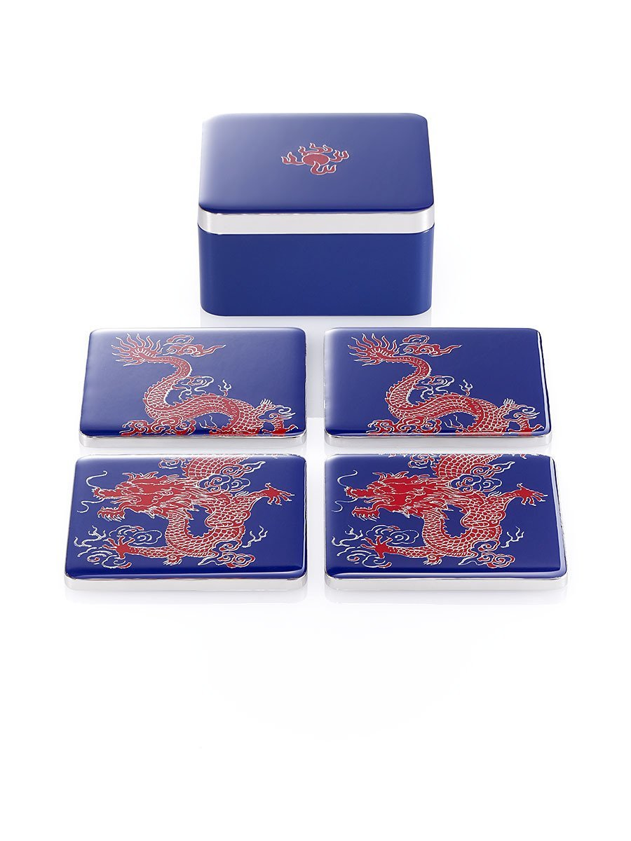 Dragon Enamel Coasters (Set of 4)