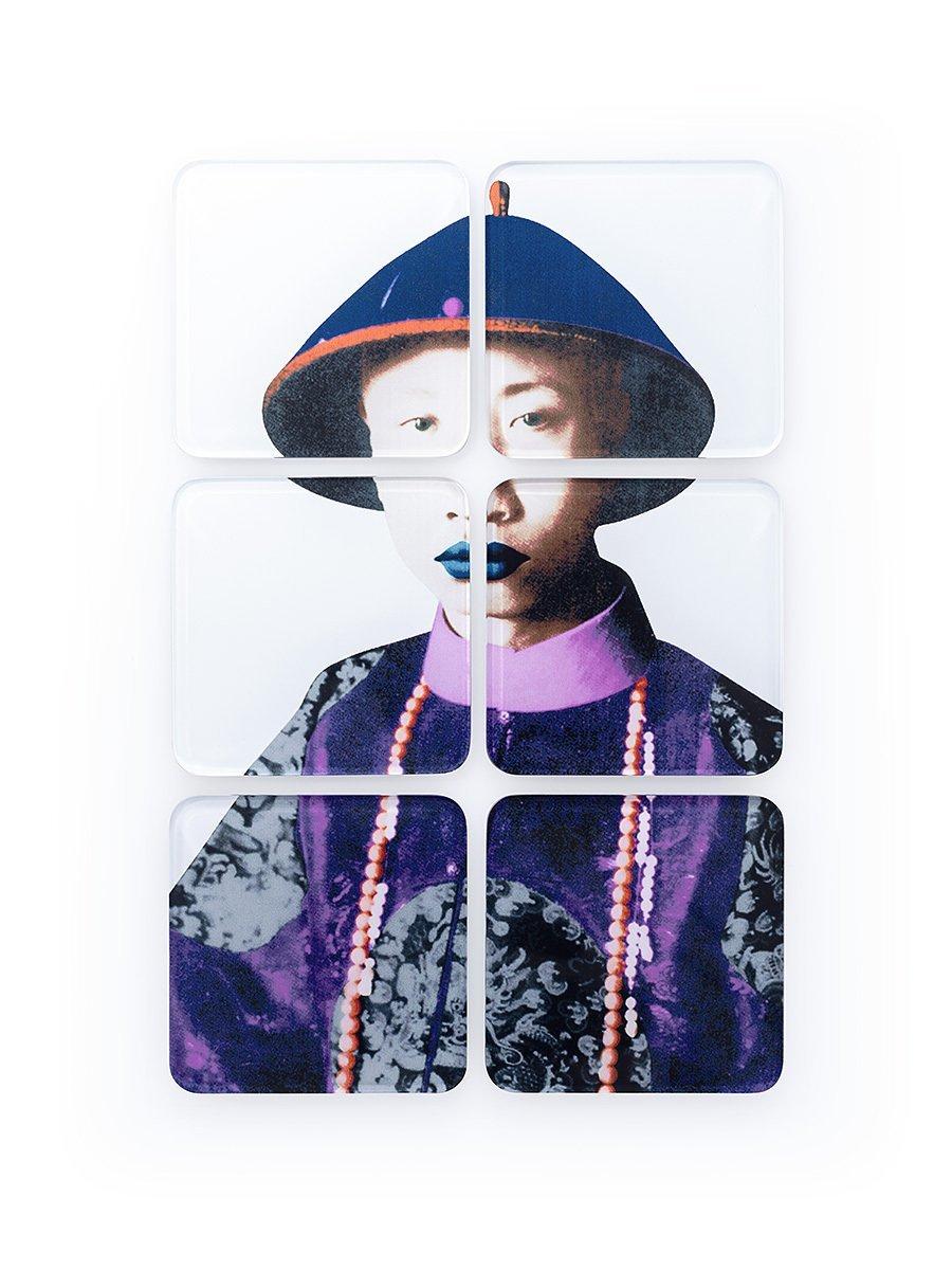 Puyi Acrylic Coasters (Set of 6)