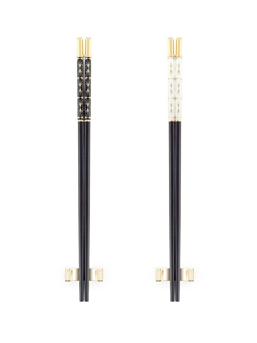 Fan Deco Enamel Chopsticks (Set of 2 pairs)