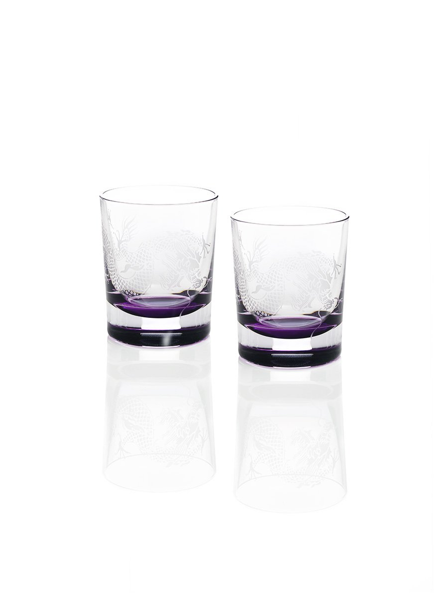 Colour Dragon Whisky Glasses (Set of 2)