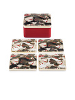 Ginkgo Enamel Coaster Set of 4