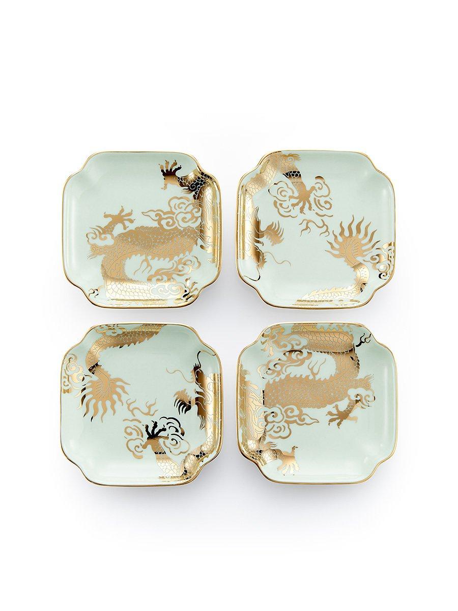 Dragon Bone China Tray (Set of 4)