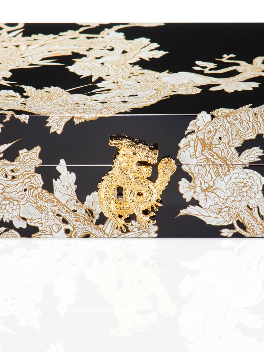 Carved Dragon Humidor